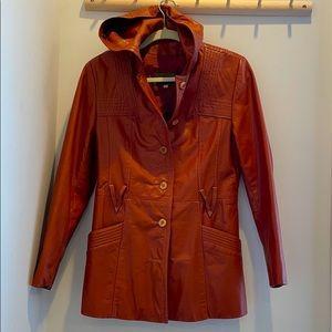 Learsi Leather Vintage Jacket w/Hood